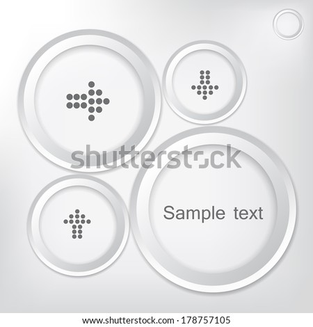 Rings of paper on a gray background. Vector  illustration  - stock vector