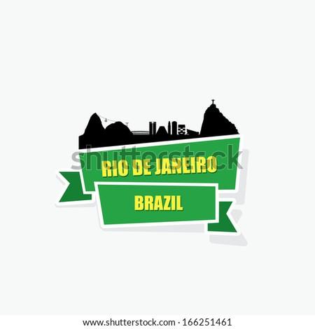 Rio De Janeiro ribbon banner - vector illustration - stock vector