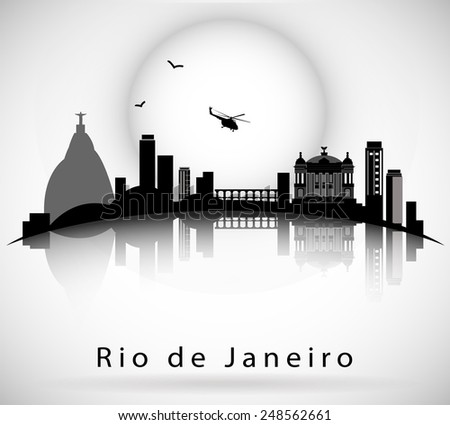 Rio de Janeiro Skyline - stock vector