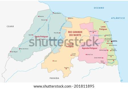 Rio Grande Do Norte Administrative Map
