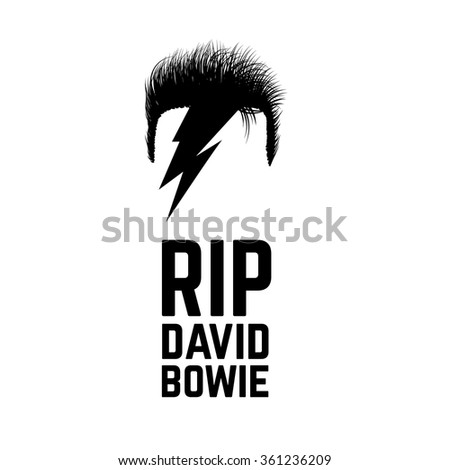 RIP David Bowie. JANUARY 11 2016. Vector illustration. - stock vector
