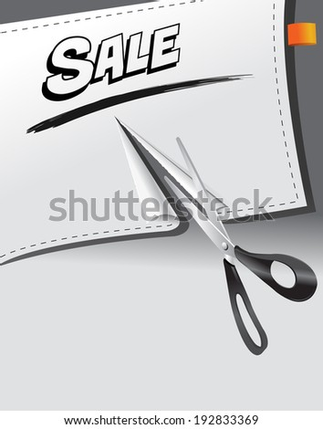 ripped banner paper with sale promotion message - stock vector