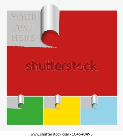 Ripped Paper - stock vector