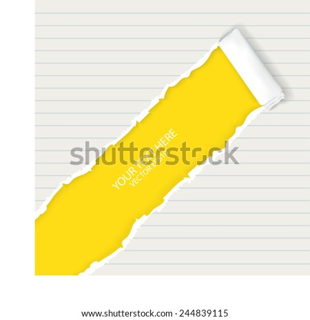 Ripped paper, space for copy  - stock vector