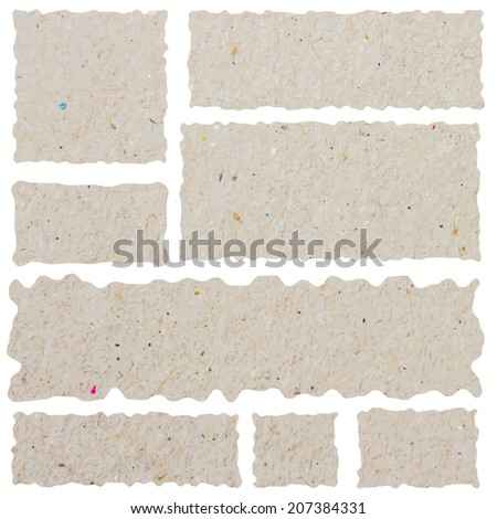 ripped pieces of paper - stock vector