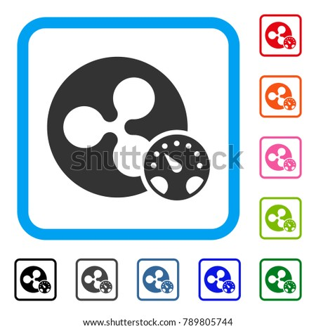 Ripple Meter Icon Flat Gray Iconic Stock Vector 789805744 Shutterstock