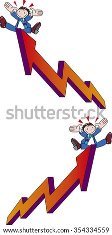 Rise - stock vector
