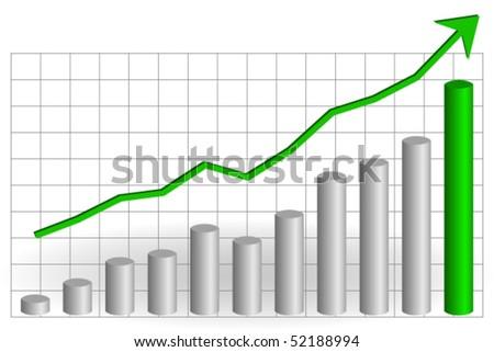 Risen graph - stock vector
