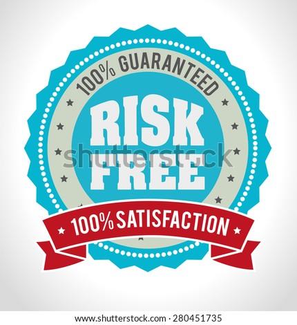 Risk free design over white background, vector illustration. - stock vector