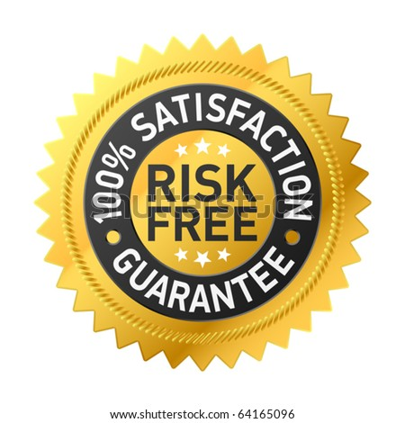 Risk-free guarantee label. Vector. - stock vector