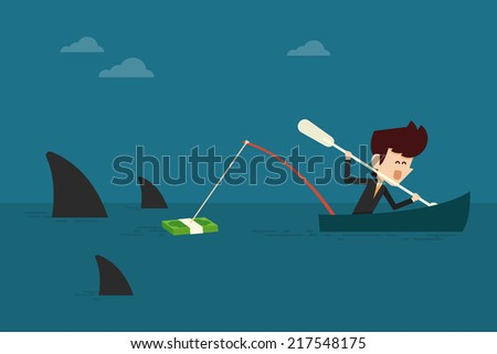 Risk investment - stock vector