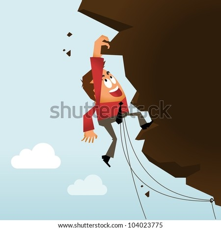 Risk Taking and Hard Work. Vector illustration - stock vector