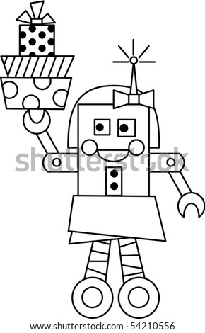 Rita Robot - stock vector