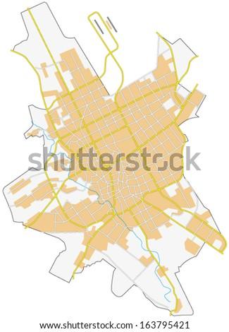riyadh city map - stock vector