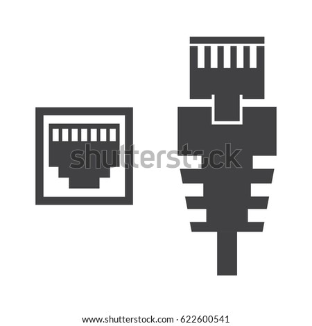 Rj45 on data center concept
