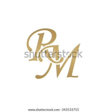 stock-vector-rm-initial-monogram-logo-343533755 Antique Monogram Letter C Template on