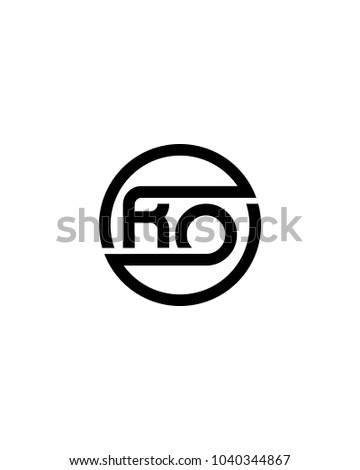 ro initial circle logo template vector stock vector royalty free