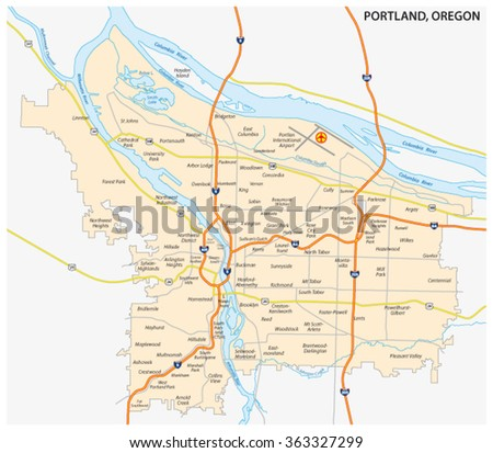 Oregon Map Stock Images RoyaltyFree Images Vectors Shutterstock - Detailed map of oregon