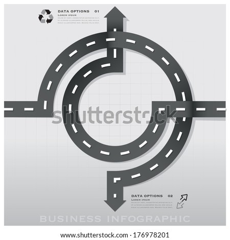 Road And Street Traffic Sign Business Infographic Background Design Template - stock vector