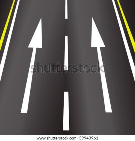 Road Arrows - stock vector