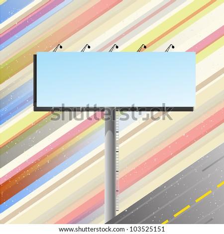 Road banner over speedy road template. Vector illustration. - stock vector