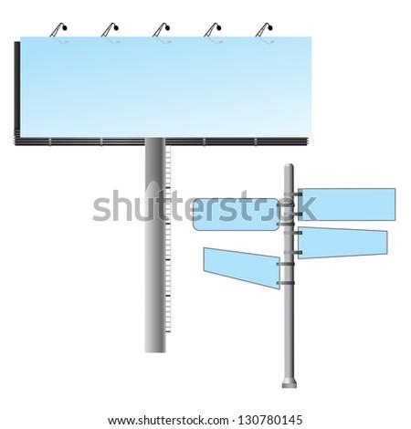 Road banner template set - stock vector