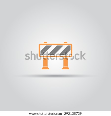 Road barrier isolated vector colored icon - stock vector