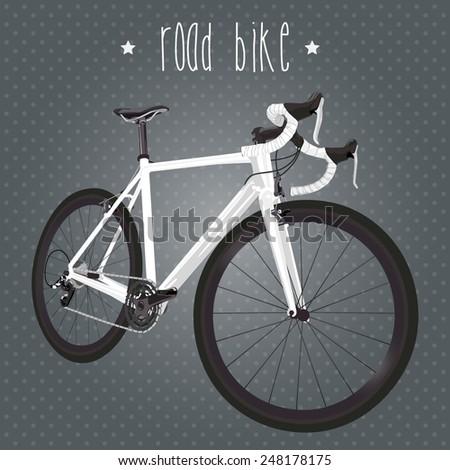 Road bike - stock vector