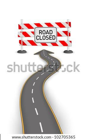Road closed vector illustration - stock vector