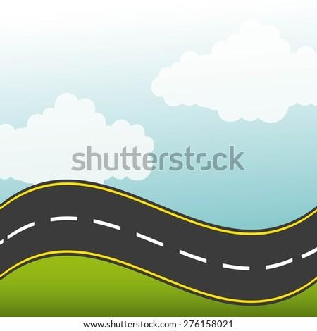 road highway design, vector illustration eps10 graphic  - stock vector