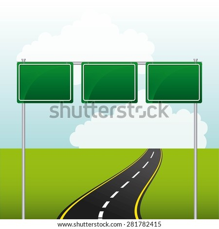 road highway design, vector illustration eps10 graphic