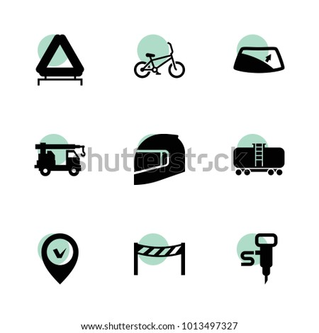 Road Icons Vector Collection Filled Road Stock Vector 1013497327