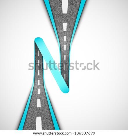 Road loop, vector. Eps 10 - stock vector
