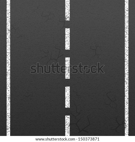 Road markings background  - stock vector