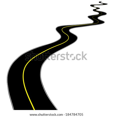 road on a white background for your design - stock vector