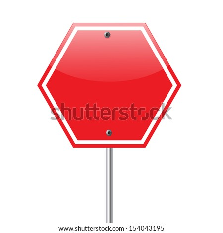 Road, red sign isolated on white background. VECTOR illustration. - stock vector