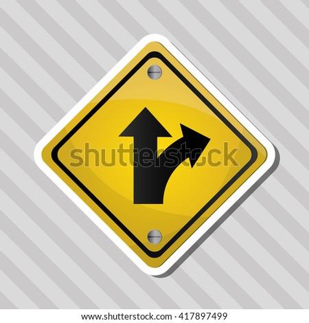 Road sign design , vector illustration - stock vector