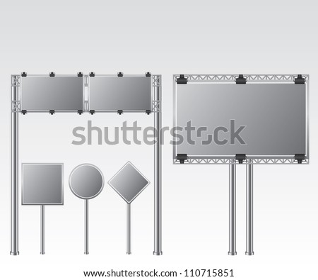 Road sign illustration - stock vector