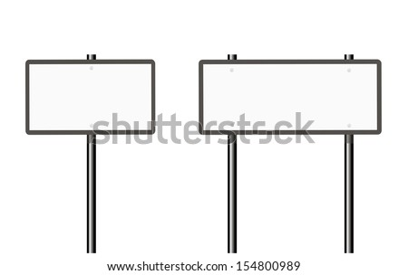 Road sign on white - stock vector