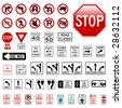 Road Sign Set - Regulatory - stock