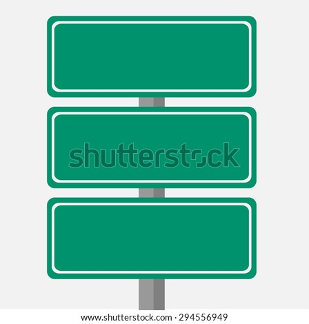 Road sign template for a text.