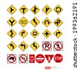 Road sign vector format - stock