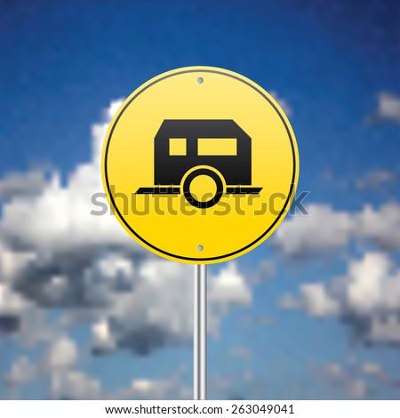 Road sign vector illustration. - stock vector