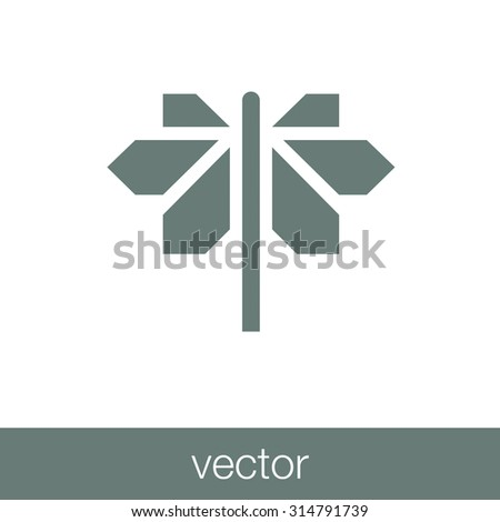 road sign with different directions icon - stock vector