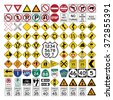 Road Signs and Symbols - stock vector
