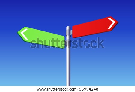 Road signs choose concept - stock vector