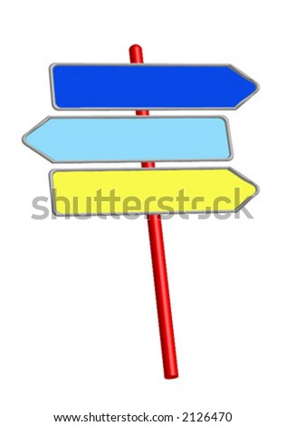 Road signs_Information signs_Direction signs - stock vector