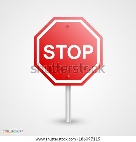 Stop sign up ahead stock images royalty free images vectors road stop sign template design element vector illustration pronofoot35fo Images