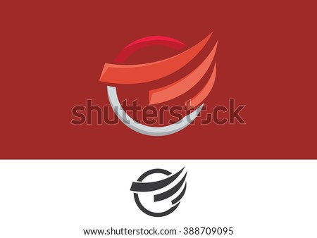 Road swoosh abstract flat logo vector  - stock vector