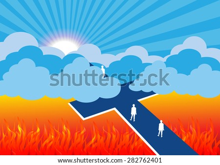 Road to salvation-Vector illustration - stock vector